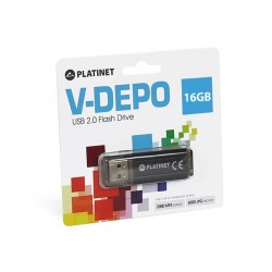 PLATINET USB 2.0 V-DEPO Flash Disk 16GB μαύρο PMFV16B